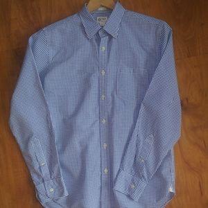 J. Crew long sleeve shirt, blue gingham
